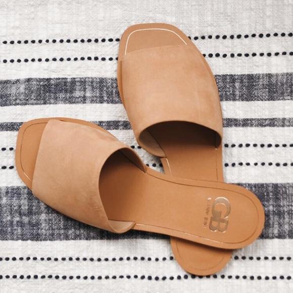 Gianni Bini Shoes - Gianni Bono} Suede Flat Sandals